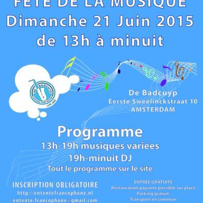 Coup de projecteur sur la Fête de la musique 2015 et l'Entente Francophone