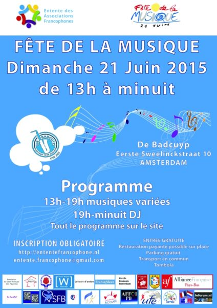 Read more about the article Coup de projecteur sur la Fête de la musique 2015 et l'Entente Francophone