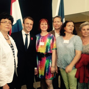 Avec Emmanuel Macron