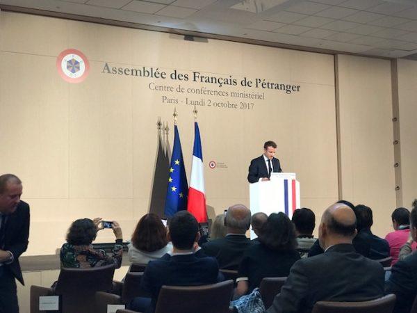 27e session de l'Assemblée des Français de l'étranger : opération «Macron séduction»